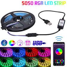 USB  RGB LED Stripe Leiste Streifen Band Leuchte Lichterkette Bluetooth APP 1-5m
