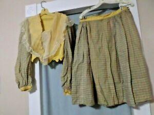 Vintage Edwardian 2pc Maid Housewife Midwife Dress set