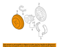Chevrolet GM OEM 09-11 HHR Rear Brakes-Brake Drum 25806004