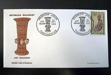 MADAGASCAR  398  PREMIER JOUR FDC     ART , IDOLE      30F     1964