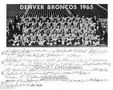 1965 DENVER BRONCOS AFL FOOTBALL 8X10 TEAM PHOTO WILLIE BROWN
