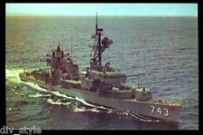 USS Southerland  DD-743 postcard US Navy Destroyer warship