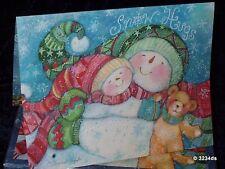 LANG 1004211 Boxed Christmas Cards SNOW HUGS Snowman Artwork by Susan Winget