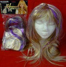New BLONDE SHOULDER LENGTH WIG FANCY DRESS HANNAH MONTANA POP STAR LADY GAGA