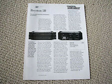 Bryston 5B power amplifier review reprint