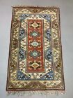 Old Turkish Milas Rug 200x121 cm old vintage carpet Ushak Region Blue Beige Rust