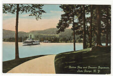 Bolton Bay Steamer Sagamore Lake George New York 1910c postcard