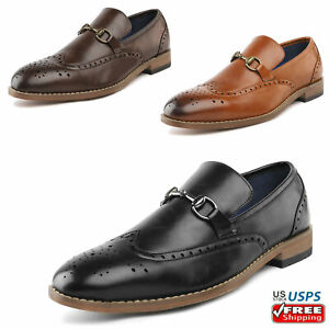 Mens Slip on Faux Leather Loafers Casual Shoes Dress Shoes