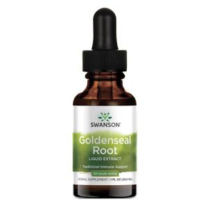 Swanson Goldenseal Root Liquid Extract (Alcohol- & Sugar-Free) 1 fl oz Liquid.