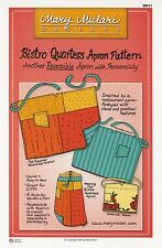 BISTRO QUARTERS APRON Reversible Sewing Pattern by Mary Mulari