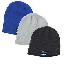 Bluetooth Music Warm Beanie Hat Wireless Smart Cap Headset Headphone Speaker 1pc