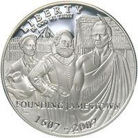 2007 P Jamestown 400th Anniversary Proof Commem 90% Silver Dollar US Coin