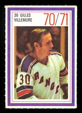1970-71 ESSO POWER PLAYERS NHL #30 GILLES VILLEMURE NM N Y RANGERS HOCKEY STAMP