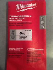 Milwaukee Thunderbolt 5/16 drill bits. Pack of 6