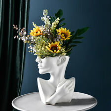 Creative Ceramics Human Head Pot Vase Home Desktop Flower Ornament Embellishment