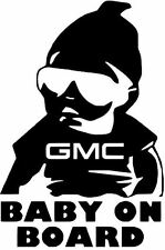 """6""""  GMC BUICK LINCOLN BABY ON BOARD vinyl car window decal sticker BUY2GET1FREE!"""
