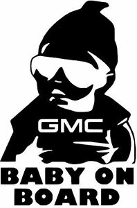"6""  GMC BUICK LINCOLN BABY ON BOARD vinyl car window decal sticker BUY2GET1FREE!"