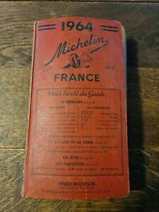 GUIDE MICHELIN 1964 GUIDE ROUGE COLLECTOR  FRANCE