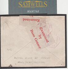 MS768 1918 WW1 FRANCE AUSTRALIAN FORCES *Hospital Mixte De Melun* Officer 59Bn