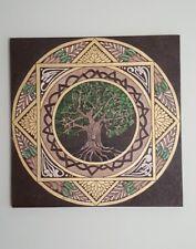 Mandala oleo sobre lienzo arbol de la vida