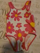Baby Girls Large Daisy Flower Print Swimming Costume 18-24 Months Mothercare