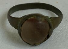 Ancient Roman 3rd century (AD) bronze and Glass ring in EXCELLENT Condition