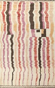 Geometric Moroccan Oriental Area Rug Hand-knotted Plush Wool Modern Carpet 10x14