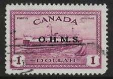 "Canada - $1 Purple ""OHMS"" Overprint *Used* SG 0170 (CV £70)"
