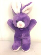 "VTG 1987Platinum Plush Bunny Rabbit - Purple- Ribbon - 9"" long"