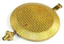 "BRASS FACE PENDULUM BOB W//STEEL BACK 2.75"" DIAMETER FOR QUARTZ CLOCKS 6.985cm"