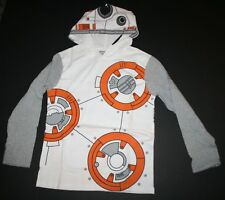 NEW Gymboree BB8 Star Wars Long Sleeve Hoodie Tee Top Size 3 XXS NWT Gymfriends