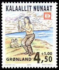 Greenland 2000 Drum Dancer, Hafnia 01 stamp Exhibition, UNM / MNH