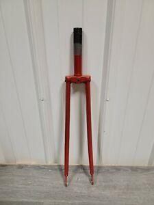 """Vintage Steel 27"""" Bicycle Fork 1"""" steertube 5 1/4"""" Length Road Bike"""