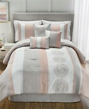 Hallmart Collectibles Crawford Quilted 7 Piece Queen Comforter Set Bedding i926