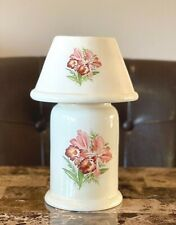 Vintage Tea Light Candle Holder Lamp Ceramic Fall Harvest Design