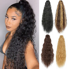 16'' Yaki Kinky Straight Claw Clip in Synthetic Ponytail Soft Hair Extensions