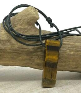 Tiger Eye Bar Necklace Healing Crystal Choker Men Women Unisex Gift