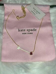 Authentic Kate Spade NY Romantic Rocks Arrow Shaped Pendant Necklace W Dust Bag