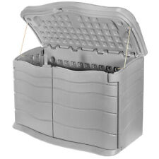 Outdoor Storage Shed Plastic Garden Cabinet All Weather Utility Box 17-Cubic ft