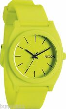 Authentic Nixon Neon Yellow Time Teller Watch. NIB, RRP $99.95. A1191262.