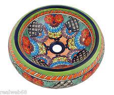 Mexican Talavera Round Vessel Sink Donut Ceramic Handpainted # 187