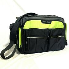 Eddie Bauer Diaper Bag Gray Green Over The Shoulder Cross Body Tote Insulated