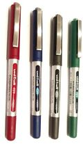 4 X UNI-BALL EYE MICRO  UB-150 ROLLER BALL PEN 1.BLACK 1BLUE.1RED.1GREEN.