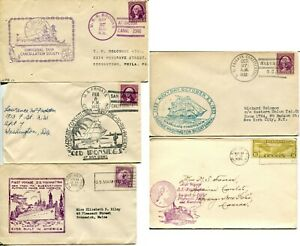US Ship Frigate First Voyage Cachet Sea Post Cover Cancellation Collection