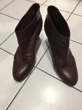 Marc Jacobs brown leather ankle boots size UK6 EU 39