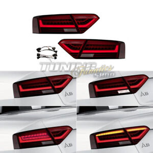 Original LED Facelift Tail Lights+Adapter Cable Loom For Audi A5 S5 8T 8F