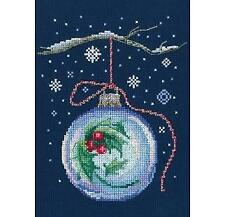 RTO Counted Cross Stitch Kit - Christmas Bauble With a Sprig of Holly