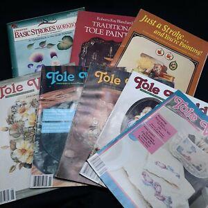 Vintage art books magazine lot How to Tole  paint painting folk artist Dewberry