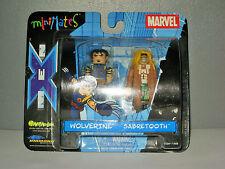 Marvel Minimates Wolverine Et Sabretooth (dent de sabre)