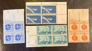 4 Different  4 Cent  MNH Plate Blocks...as Pictured... Lot 61